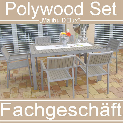 gartenm bel polywood gartenset sitzgruppe alu wetterfest kein rattan balkonm bel ebay. Black Bedroom Furniture Sets. Home Design Ideas
