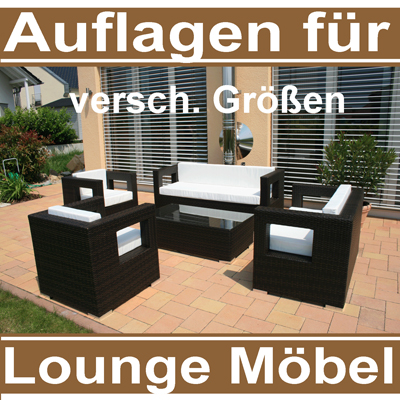 auflagen f r gartenm bel rattan sitzpolster polster sitzkissen lounge kissen neu ebay. Black Bedroom Furniture Sets. Home Design Ideas