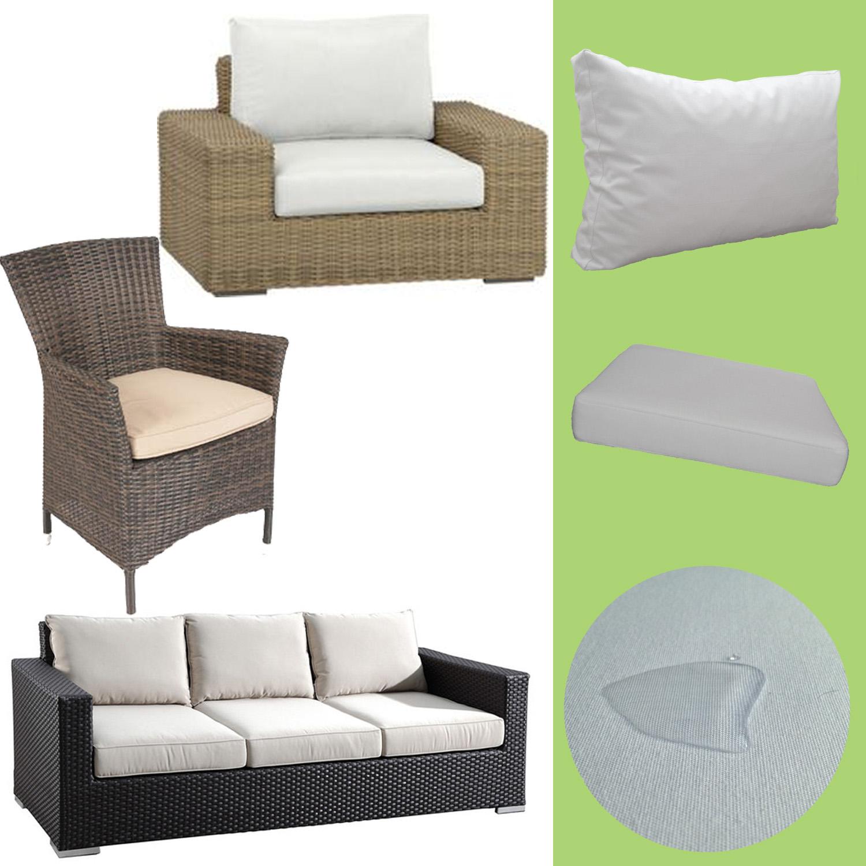 Rattan Lounge Garden Furniture Padding Pads Seat Pad Back Cushions 60x60cm
