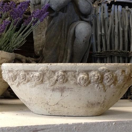 Pflanzenschale blumenschale blumentopf landhaus deko vintage shabby stein vase ebay - Fenster zumauern welcher stein ...