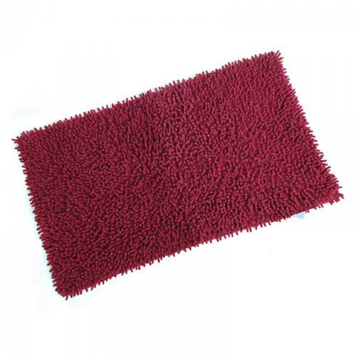 Bathroom carpet 50x80 red
