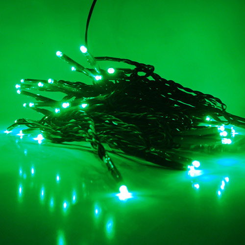 50 LED Lichterkette gr�n