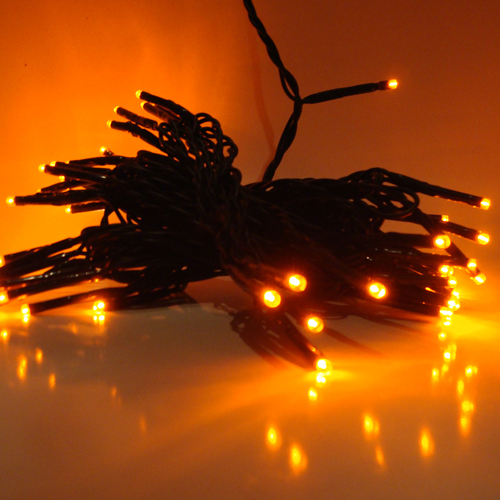 50 LED Lichterkette orange