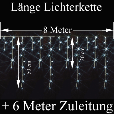 LED Eiszapfen Lichterkette