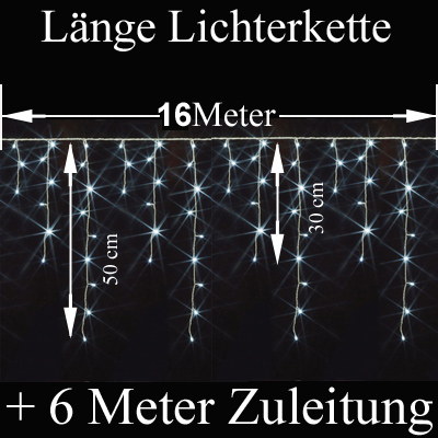 LED Eiszapfen Nomotion 16 Meter