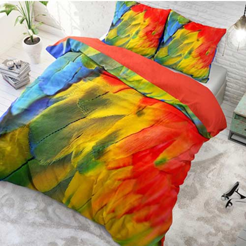 bed cover bird 135x200