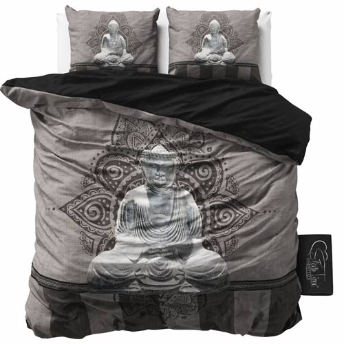 bettw sche buddha black 200x200 microfaser. Black Bedroom Furniture Sets. Home Design Ideas