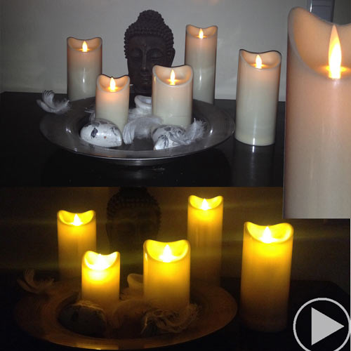 LED candle with timer 22,5 cm