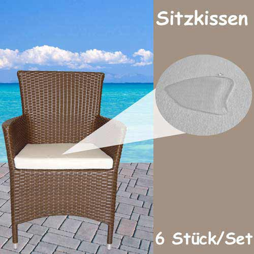 sitzkissen rattan stuhl stuhlkissen auflage gartenstuhl. Black Bedroom Furniture Sets. Home Design Ideas