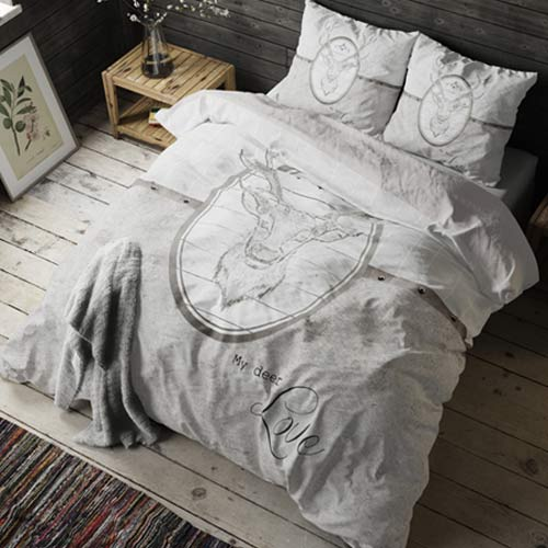 bedding bed linen deer 135x200