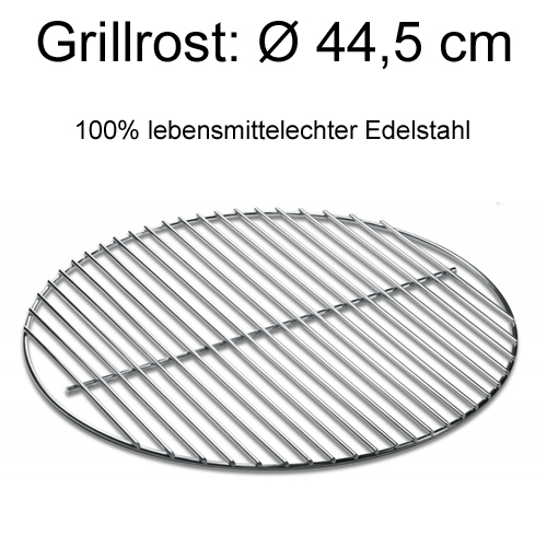 grillrost edelstahl grillgitter rund 44 5 f r 47cm grill. Black Bedroom Furniture Sets. Home Design Ideas