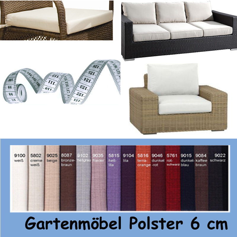 auflage gartenm bel sitzpolster sitzkissen polster nach ma homefavorit. Black Bedroom Furniture Sets. Home Design Ideas