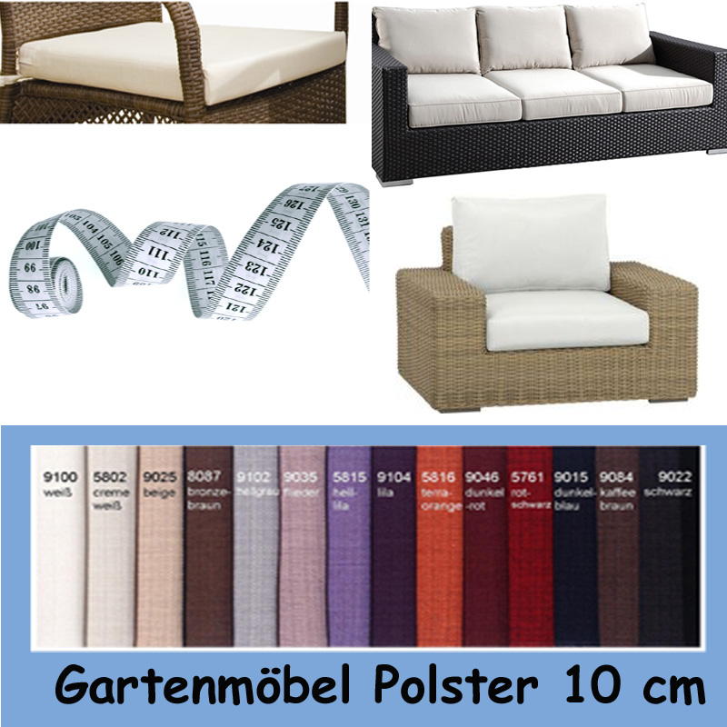 auflagen nach massanfertigung gartenm bel sitzpolster sitzkissen homefavorit. Black Bedroom Furniture Sets. Home Design Ideas