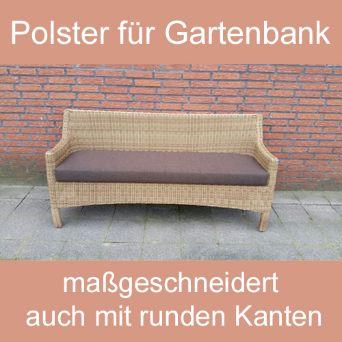 gartenbank sitzbank polsterauflage sitzpolster nach ma. Black Bedroom Furniture Sets. Home Design Ideas
