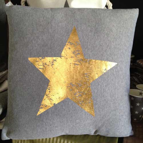 Sofakissen gold Star 45x45