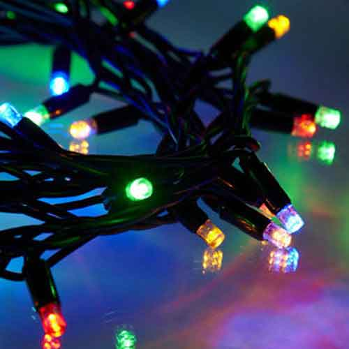 50 LED Lichterkette bunt