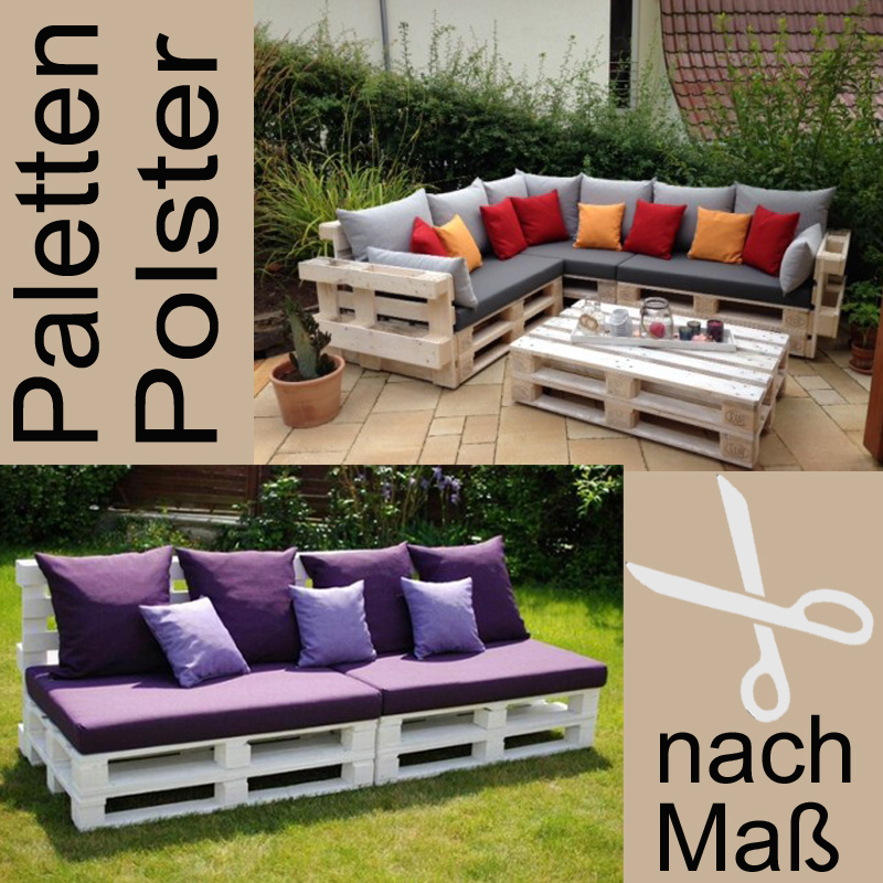 paletten auflagen polster nach massanfertigung f r gartenm bel shop. Black Bedroom Furniture Sets. Home Design Ideas