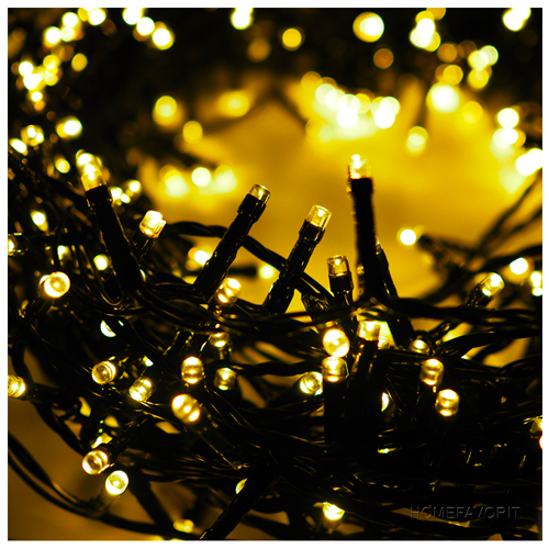100 LED Lichterkette warmweiß